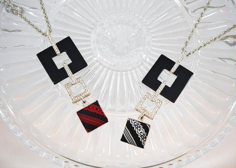 【Jemy Accessories】ネックレス(スクエアデザイン)