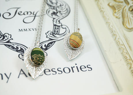 【Jemy Accessories】はっぱネックレス