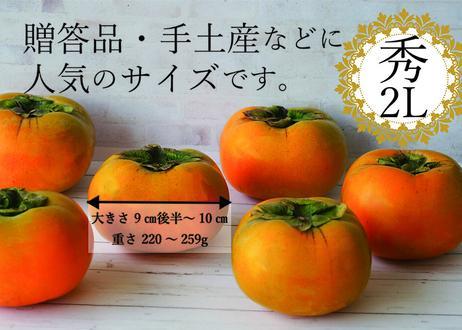 【一部エリア送料無料】スーパーフード認定!和歌山のたねなし柿 (15玉・秀・2Lサイズ)