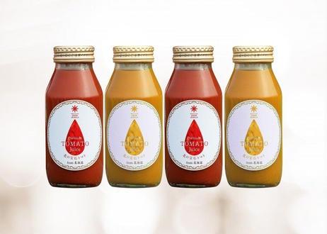 【一部エリア送料無料】北海道余市産・果汁100%プレミアムジュース4本セット(トマト赤&黄 各2本)