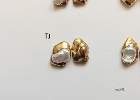 【ゴールド】淡水パールピアス/イヤリング