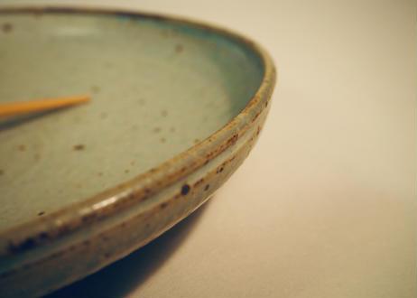 灰粉引大皿
