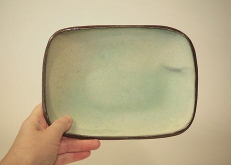 銅釉タタラ角皿 ②