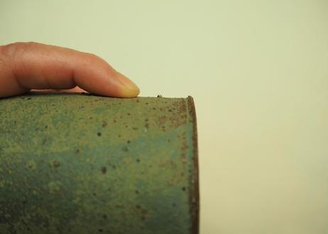 銅緑釉花入 ①