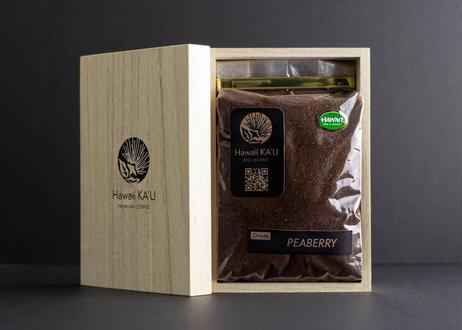 ★定期便:1ヶ月毎★希少豆ピーベリー 200g【粉】シングルオリジン カウコーヒー(Hawaii Kau Ocean Vista コーヒー農園限定)
