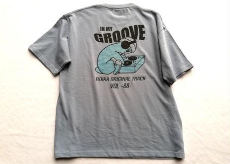 ROIKA/ペンギンレコード/Tシャツ/くすみブルー