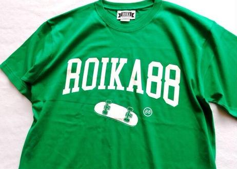 ROIKA/カレッジテイストTシャツ/グリーン