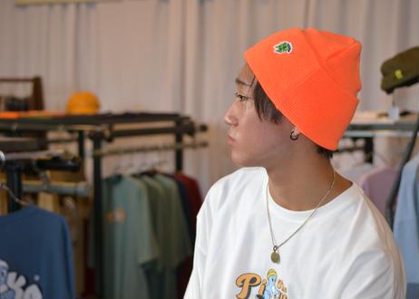ROIKA/ニットキャップ/オレンジ
