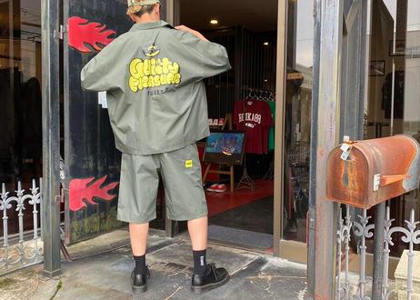 ROIKA/オープンカラーシャツ/くすみカーキ