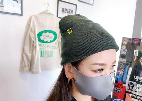 ROIKA/ニットキャップ/オリーブ