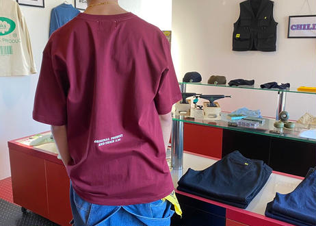 ROIKA/カレッジテイストTシャツ/レッド