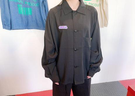 ROIKA/CHILLシャツ/ラグランBIGシルエット/ブラック