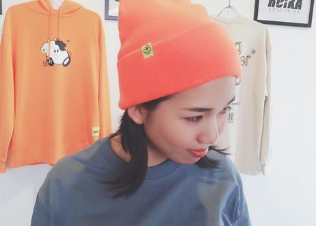 ROIKA/ニットキャップ/ネオンオレンジ