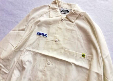 ROIKA/CHILLシャツ/ラグランBIGシルエット/ホワイト