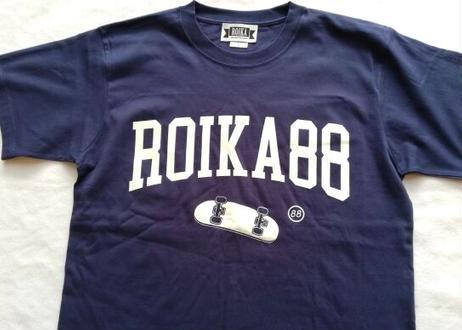 ROIKA/カレッジテイストTシャツ/ネイビー