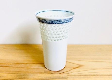 水晶青海波ビールコップ