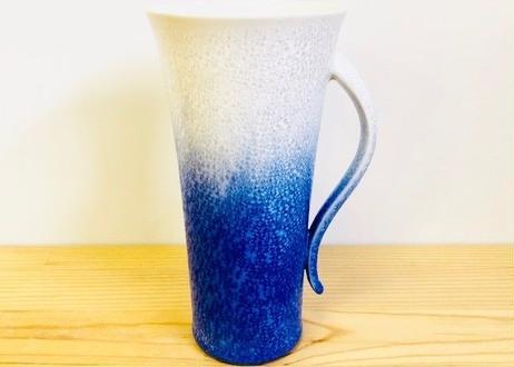 藍染水滴手付ビアグラス(大)