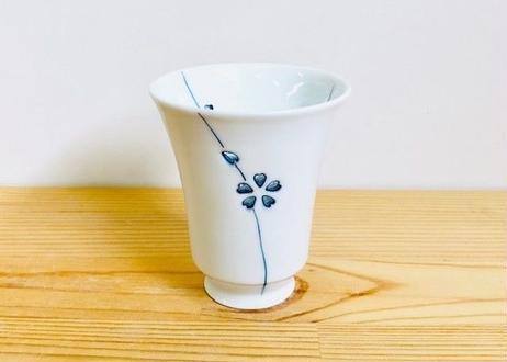 水晶カラー花あそび(青)Tコップ