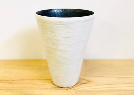 晶外白砂紋ビアカップ