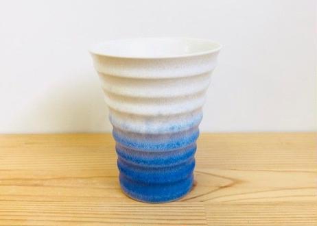 藍染水滴反千段ビールカップ