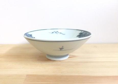 古染山水平茶付(中)