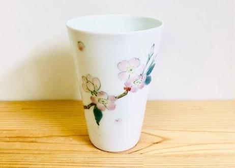 桜花紋ビールグラス