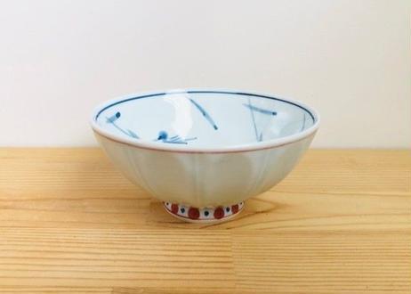 [陶器市]赤筋内花絵茶碗