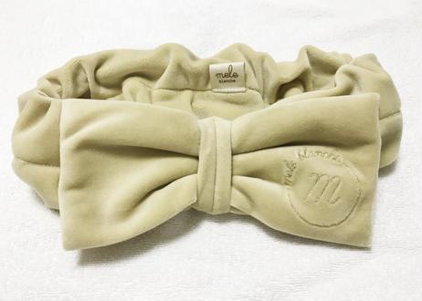 ベロアロゴ刺繍刺繍ヘアバンド