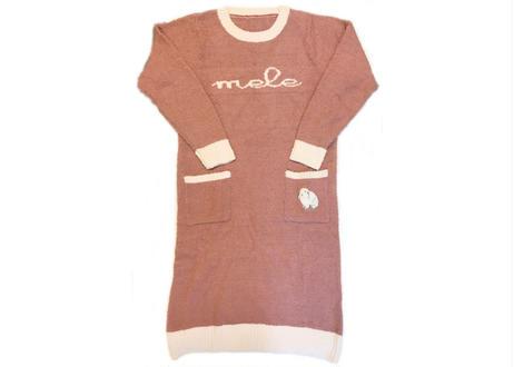 マシュマロラビットカラー刺繍 ワンピース