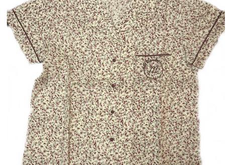 コットントラベルラビットシャツ上下セット(1分丈パンツ)