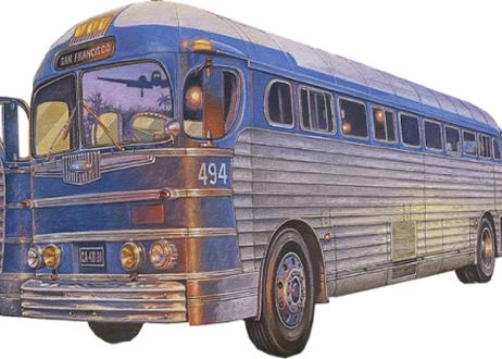 【予約】ウクライナ・ローデン社 1/35 米・PD3701シルバーサイド長距離バス・グレーハウンド1947  11月