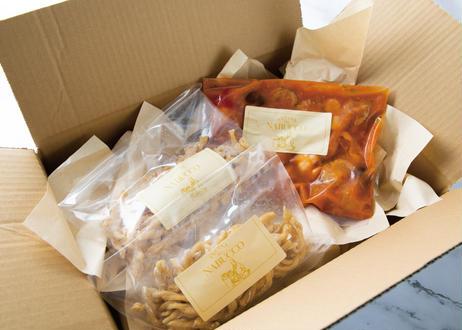 【銀座・NABUCCOのパスタセット】カナダ産オマール海老とプラムトマトのペスカトーレ ・生パスタ カサレッチェ 2名様分