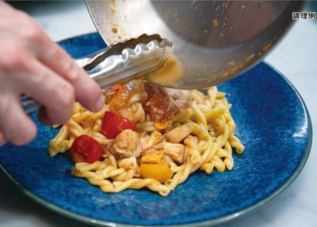 【銀座・NABUCCOのパスタセット】香鶏のスモークと白舞茸のカチョエペペ・生パスタ 石臼挽き小麦のリングイネ 2名様分