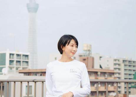ZA TOKYO ベーシッククルーネック ロングTシャツ ロゴ入り