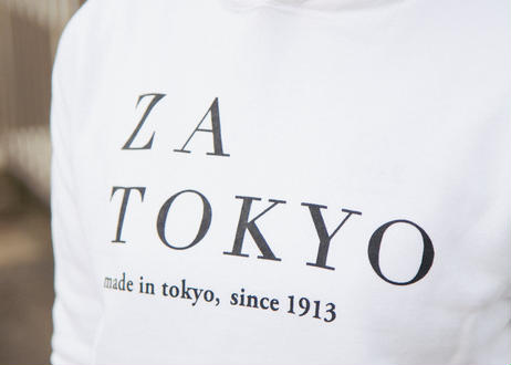 ZA TOKYO スエットパーカー ホワイト ロゴ入り
