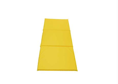 巾600mm【抗菌】オリジナル三つ折りストレッチマット  黄色  バインダータイプ