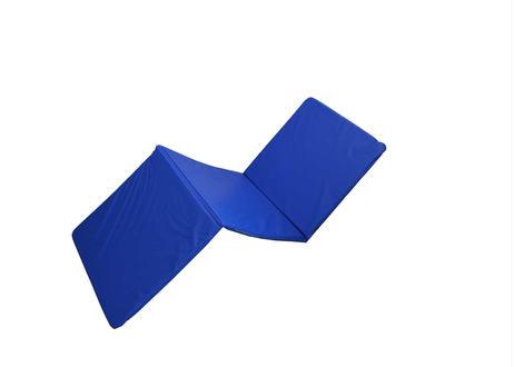 巾500mm オリジナル三つ折りストレッチマット  青