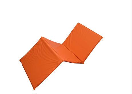 巾600mm【抗菌】オリジナル三つ折りストレッチマット  オレンジ  バインダータイプ