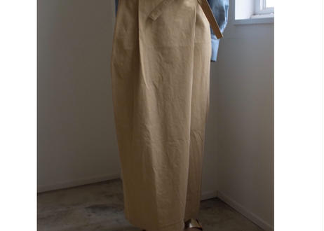 Flap long skirt BEIGE