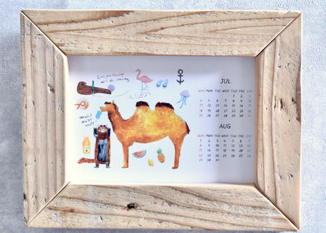 どうぶつのマテリアルポストカードカレンダー2021