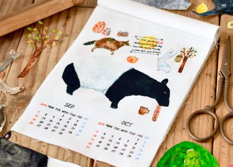 どうぶつのマテリアル布のカレンダー2021