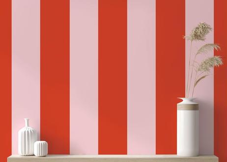 壁紙シール2.5M|【ストライプ・ピンク】