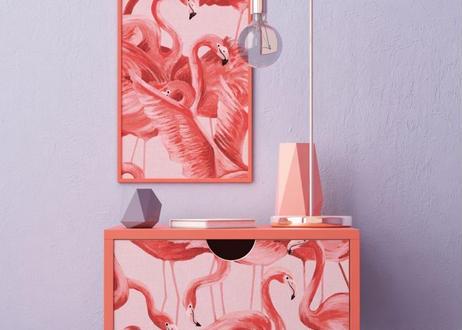 壁紙シール2.5M 【フラミンゴ】