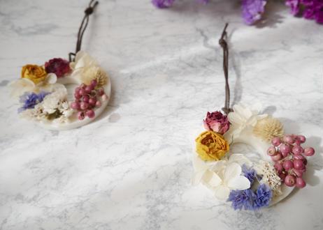 《花遊びアロマワックスサシェ》冬紫陽花