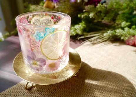 《楽園キャンドルホルダー》お砂糖とスパイスがあれば(ライトピンクガーベラ)