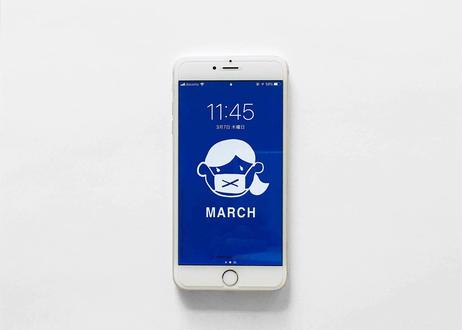 iPhone plus用壁紙 _ MARCH