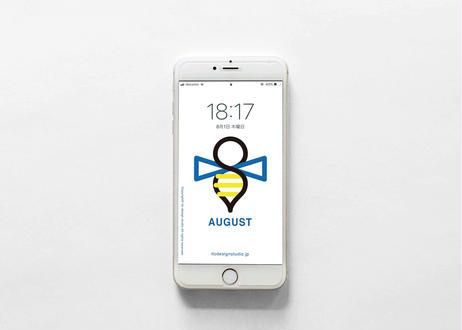 iPhone 用壁紙 _ AUGUST-蜂