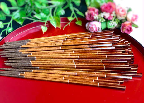 【輪島の塗箸】色箱1膳入/拭き漆工程箸(プロセス/process)【先すべり止め】