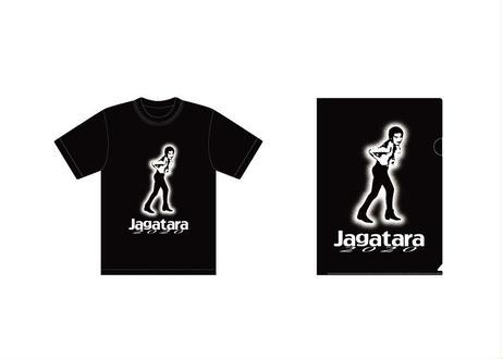 Jagatara2020 Tシャツ【Black】  &クリアファイル(A4) セット *送料込み!! クリックポスト便にて単体発送