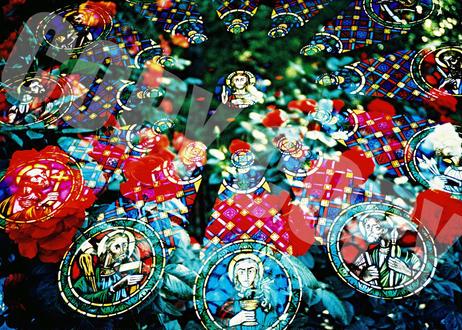 オリジナル卓上写真「Rose window」